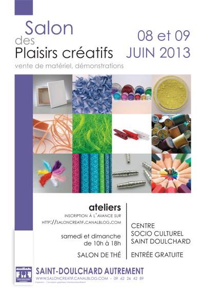 affiche salon Plaisirs créatifs 2013